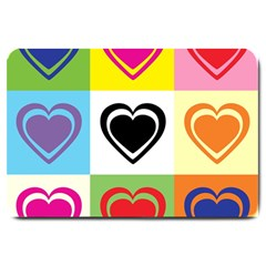 Hearts Large Door Mat