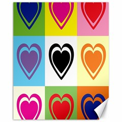 Hearts Canvas 11  X 14  (unframed)