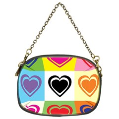 Hearts Chain Purse (One Side)