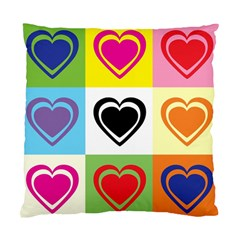 Hearts Cushion Case (two Sided)