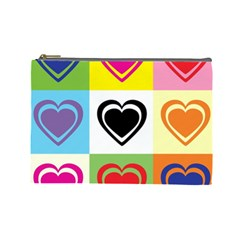 Hearts Cosmetic Bag (large)