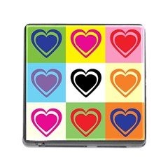 Hearts Memory Card Reader with Storage (Square)