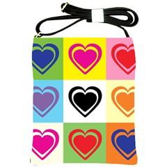 Hearts Shoulder Sling Bag