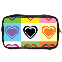 Hearts Travel Toiletry Bag (one Side)