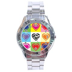 Hearts Stainless Steel Watch
