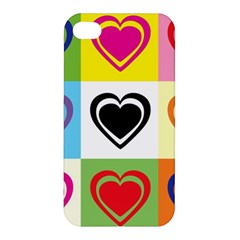 Hearts Apple iPhone 4/4S Premium Hardshell Case
