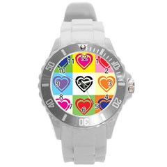 Hearts Plastic Sport Watch (Large)