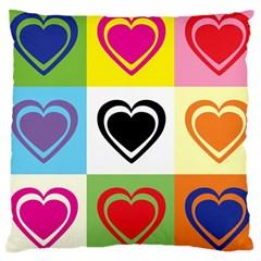 Hearts Large Cushion Case (Single Sided)