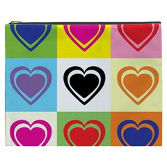 Hearts Cosmetic Bag (XXXL)