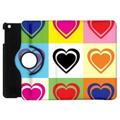 Hearts Apple iPad Mini Flip 360 Case