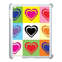 Hearts Apple iPad 3/4 Case (White)