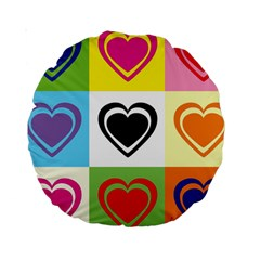 Hearts 15  Premium Round Cushion