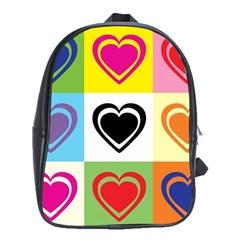 Hearts School Bag (XL)