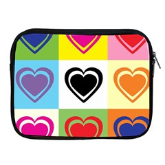 Hearts Apple iPad Zippered Sleeve