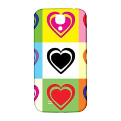 Hearts Samsung Galaxy S4 I9500/I9505  Hardshell Back Case