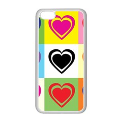 Hearts Apple Iphone 5c Seamless Case (white)