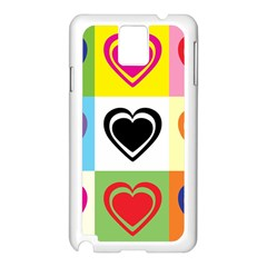 Hearts Samsung Galaxy Note 3 N9005 Case (white)