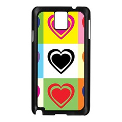 Hearts Samsung Galaxy Note 3 N9005 Case (Black)