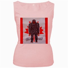 Big Foot A, Canada Flag Women s Tank Top (Pink)