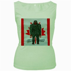 Big Foot A, Canada Flag Women s Tank Top (green)