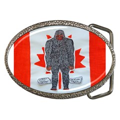 Big Foot A, Canada Flag Belt Buckle (Oval)