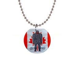 Big Foot A, Canada Flag Button Necklace