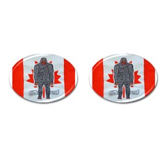 Big Foot A, Canada Flag Cufflinks (Oval)