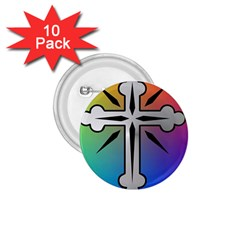Cross 1.75  Button (10 pack)