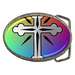 Cross Belt Buckle (Oval)