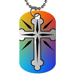 Cross Dog Tag (Two-sided)