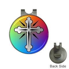 Cross Hat Clip with Golf Ball Marker