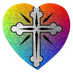 Cross Jigsaw Puzzle (Heart)