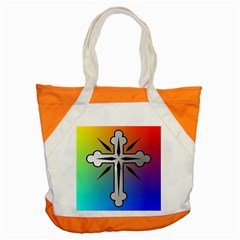 Cross Accent Tote Bag