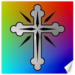 Cross Canvas 12  X 12  (unframed)
