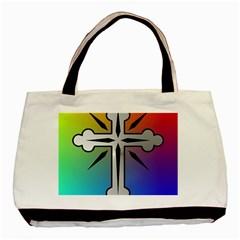 Cross Twin Sided Black Tote Bag