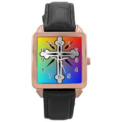 Cross Rose Gold Leather Watch