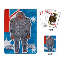 Big Foot A, Australia Flag Playing Cards Single Design