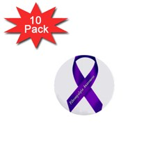 Fibro Awareness Ribbon 1  Mini Button (10 Pack)