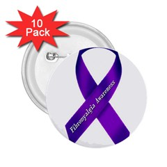 Fibro Awareness Ribbon 2 25  Button (10 Pack)