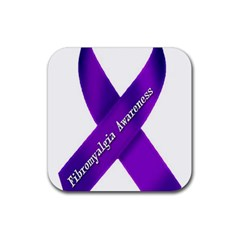 Fibro Awareness Ribbon Drink Coasters 4 Pack (Square)