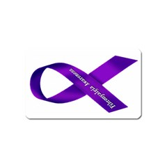 Fibro Awareness Ribbon Magnet (Name Card)