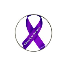 Fibro Awareness Ribbon Golf Ball Marker (for Hat Clip)