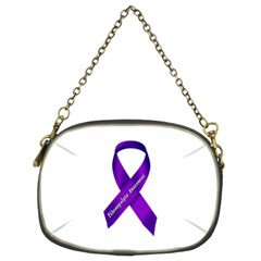 Fibro Awareness Ribbon Chain Purse (two Sided)