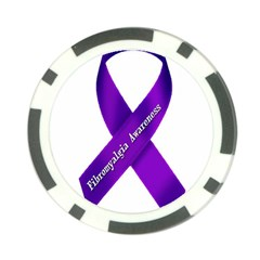 Fibro Awareness Ribbon Poker Chip (10 Pack)