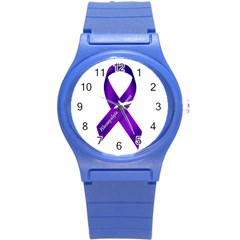 Fibro Awareness Ribbon Plastic Sport Watch (Small)