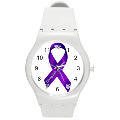 Fibro Awareness Ribbon Plastic Sport Watch (Medium)