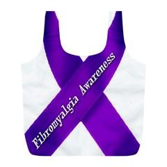 Fibro Awareness Ribbon Reusable Bag (l)