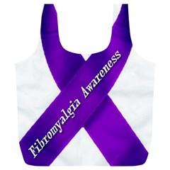 Fibro Awareness Ribbon Reusable Bag (xl)