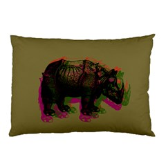 Rhinoceros Pillow Case (two Sides)
