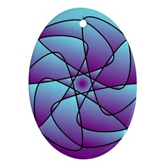 Pattern Oval Ornament